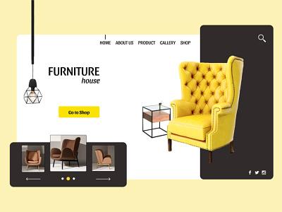 FURNITURE House Landing Page UI UX Design table lamp chair design ui  ux designer website landing page house furniture store