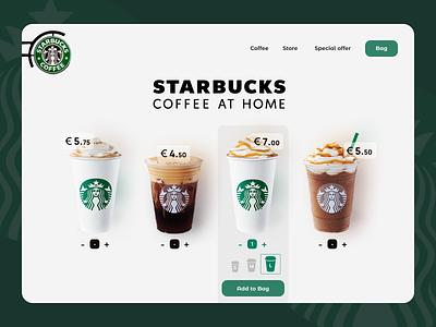 Starbucks Coffee Landing Page UI UX Desing landing page designer design website ui  ux ui ux page landing coffee shop coffee coffee cup coffe starbucks