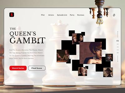 The Queens Gambit | NETFLIX | Website UI UX Design student master match chessboard chess ui ui  ux ux design designer webdesign website netflix gambit queens