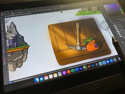 Digital art | Drawing on a tablet working idea workplace drawing process artwork digitalart digital