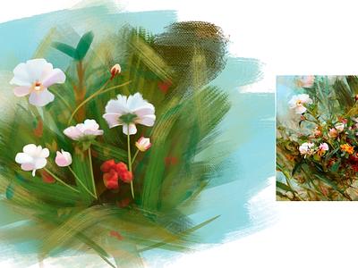 Digital art | Flowers tablet wacom adobe photoshop adobe drawing draw artwork artist art digital art digitalart digital