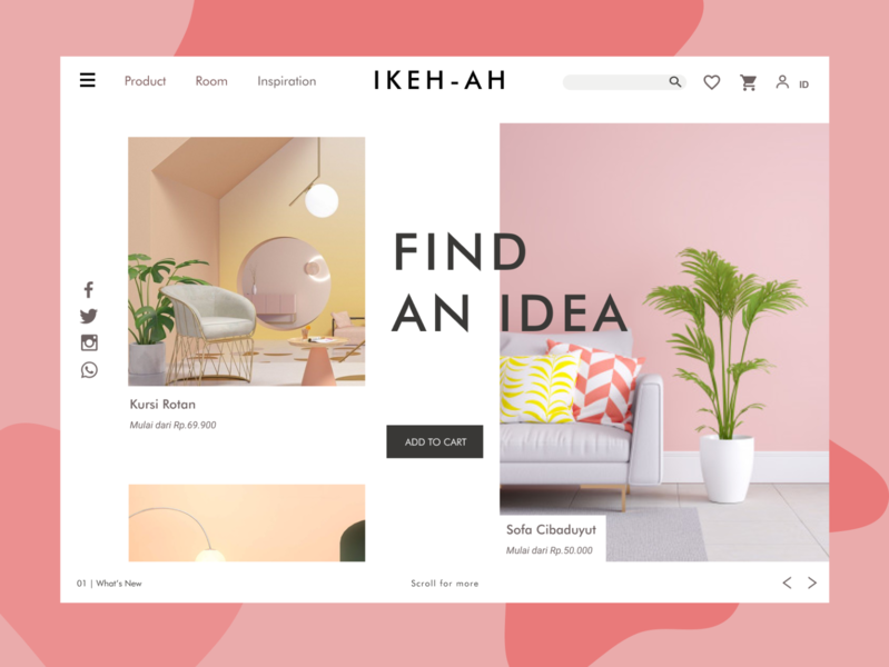 Ikeh - AH Creative Landing Page furniture landing page web ux ui design