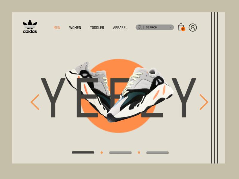 Adidas Yeezy Landing Page sneakers yeezy adidas web ui ux landing page design