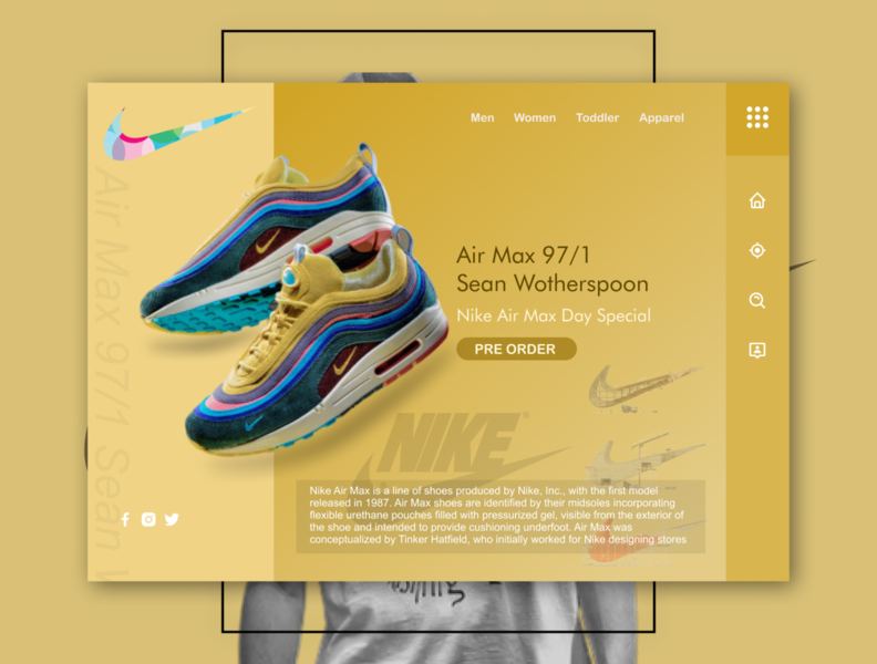 Day 06 | Air Max web ux ui landing page design