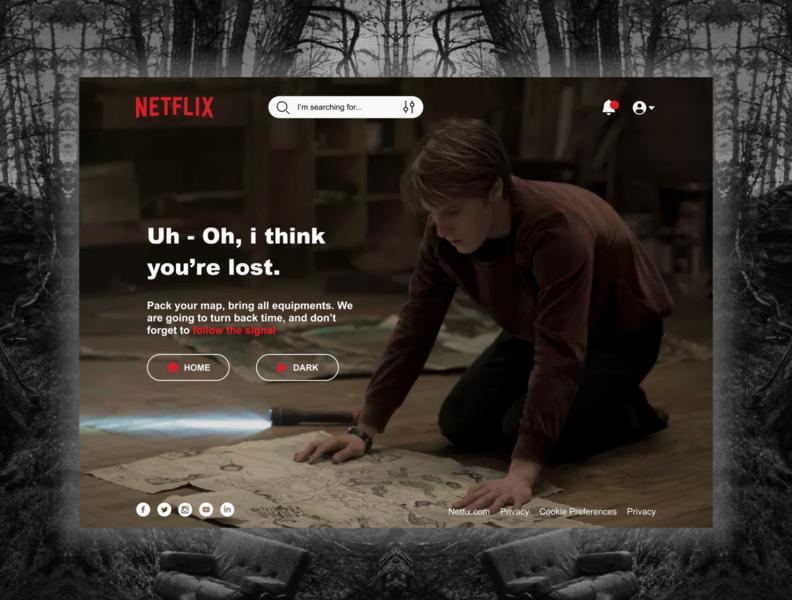 Netflix 404 Page 404page netflix web ux ui landing page design