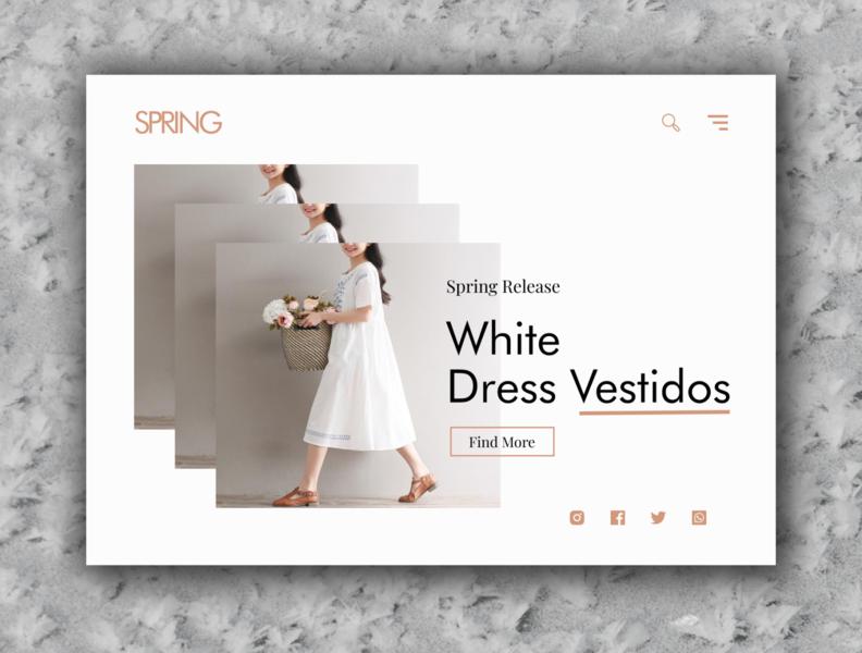 Minimalist Fashion Landing Page fashion minimalism web ux ui landing page design
