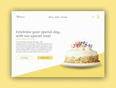 Bakery Landing Page web ui ux landing page design