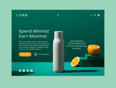 Eco Friendly Bottle Landing Page ecofriendly web ux ui landing page design