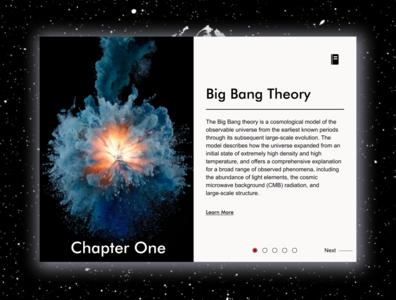 Encyclopedia Web Reader space web ux ui landing page design
