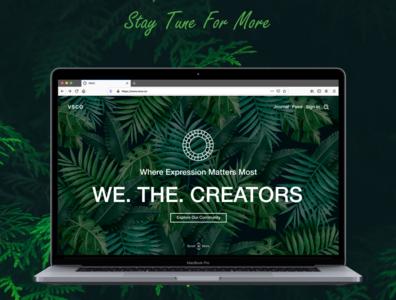 Vsco Web View macbook vsco nature illustration web landing page ui ux design