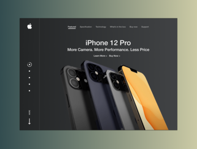 iPhone 12 Release Landing page apple iphone ux ui web landing page