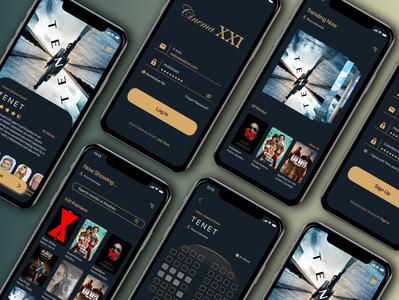 Cinema XXI Mobile Apps cinema mobile design cashier ux ui mobile app