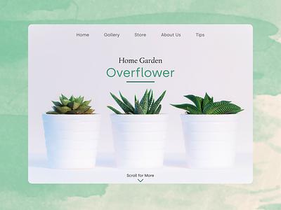 Minimalist Home Garden plants green minimalism web landing page design ux ui