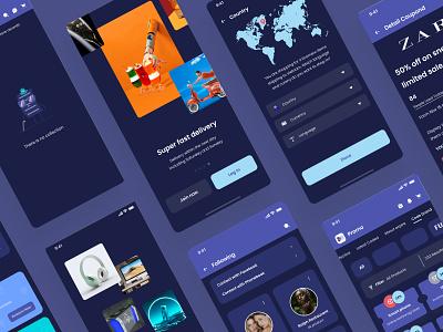 Margaret Ecommerc App UI Kit design app ecommerce app uikit mobile app store bill card ui design design finance app ui finance balance clean