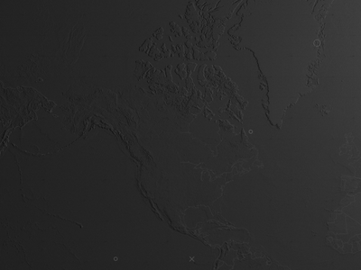 World Map elevation map interactive motion design product app design dark theme earth planet map world map