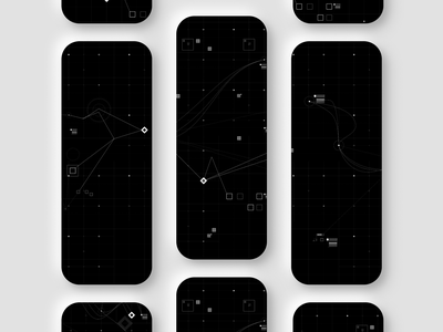 Atrium hud space vector 100daysofapps abstract app mobile design ux ui