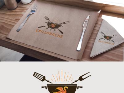 grilldrache logo design typography vector logo design logo design