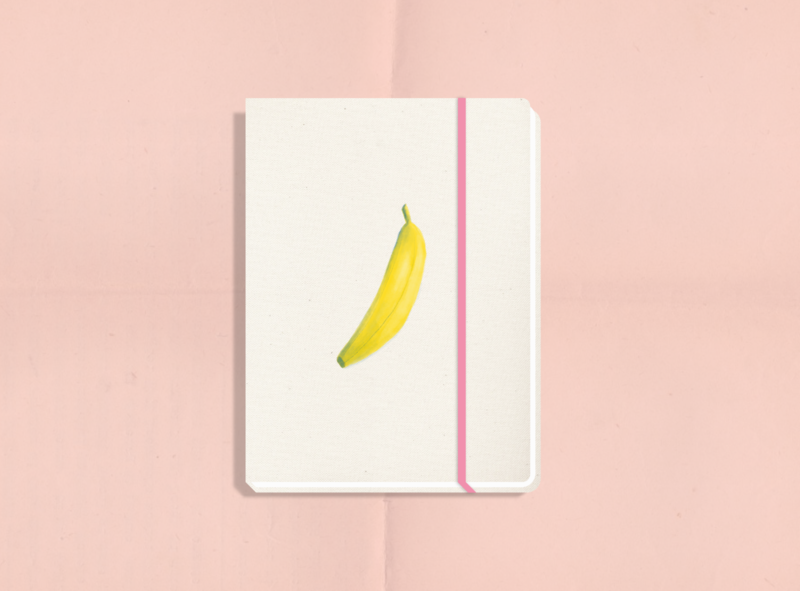 Sweet Stationery notebook notebook design stationery banana procreate illustrator