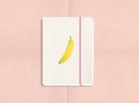 Sweet Stationery notebook notebook design stationery banana procreate illustrator