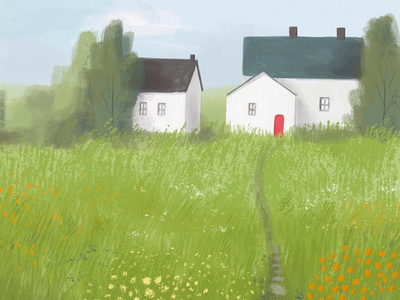 Coming Home environment background art background illustration procreate