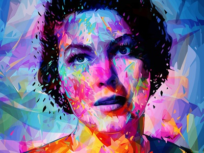 Ava kaneda kaneda99 portrait colors abstract art illustration ava gardner woman alessandropautasso artwork