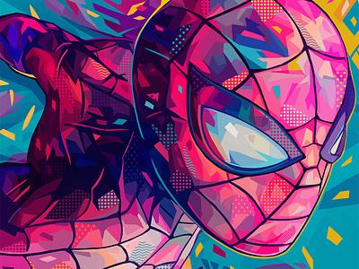 Spider-Man (2020) peterparker marvel spider-man spiderman portrait illustration kaneda99 kaneda alessandro pautasso