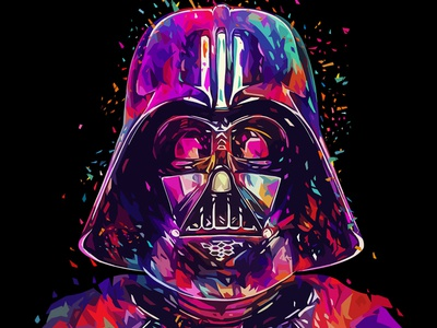 Father 2 - Variant Edition icon portrait star wars darth vader sci-fi pop art illustration kaneda99 kaneda alessandro pautasso abstract colors
