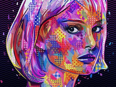 Pop Natalie texture pattern closer natalie portman natalie art pop art divas photoshop actress abstract colors colors abstract portrait illustration kaneda99 alessandro pautasso kaneda