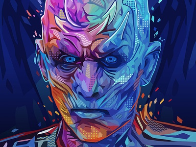 Pop Night King got night king game of thrones pop art abstract abstract colors portrait illustration kaneda99 kaneda alessandro pautasso