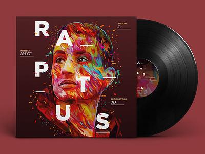 Nayt - Raptus 3 cd design music vinyl record vinyl cover cd packaging cd artwork cd cover vinyl cd abstract portrait illustration kaneda99 alessandro pautasso kaneda