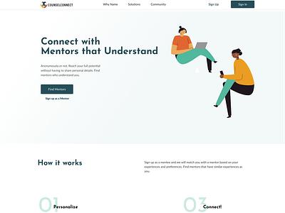 CounselConnect ui ux flat minimal app web design