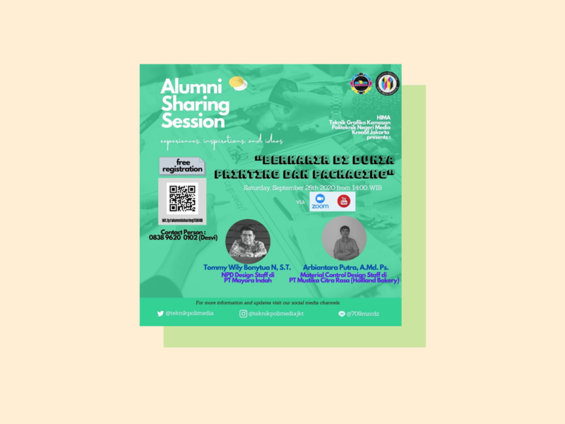 an instagram post for event | alumni sharing session poster design design event social media social media design instagram post instagram