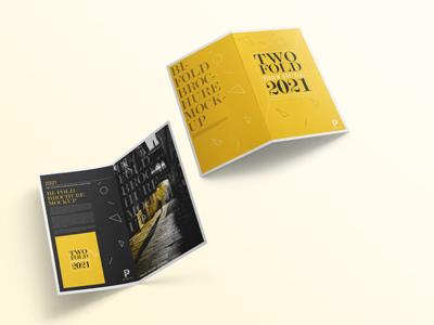 Two Fold Brochure Mockup two fold bi-fold 2 fold freebie designer template design mockup flyer brochure