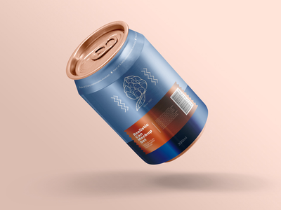 Realistic Can Mockups Set can packaging design realistic branding packaging mockup beverage soda can can