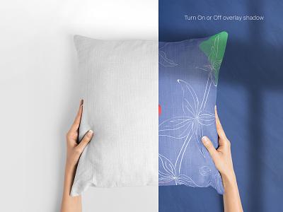 Square Pillow Mockups Set white pillow psd templates cushion throw pillow square mockup pillow