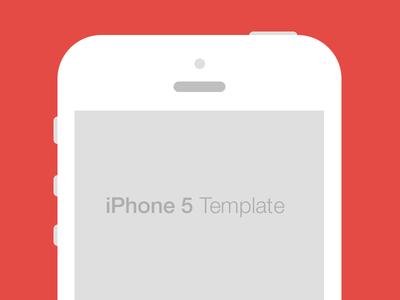 iPhone 5 Flat Template