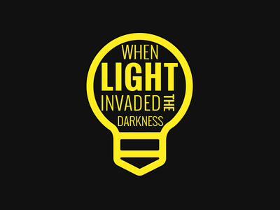 When Light Invaded sermon series graphic yellow lightbulb