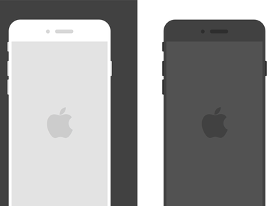 Flat iPhone 6 Sketch Templates free freebies mockup template sketch iphone 6 iphone flat