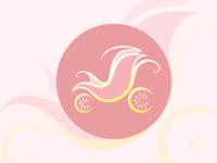 Baby logo baby shop baby care baby flower shop yellow illustrator logo pink design girl vector