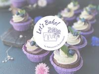 Bakery logo cake bakery bake violet flower vectorart art typography branding design logo vector