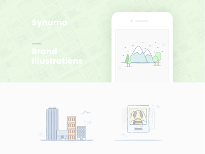 Brand Illustrations line minimal icon draw brand flat color hand