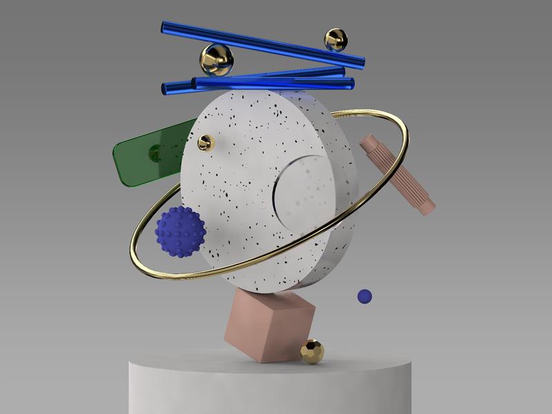 Composition 8 web illustration design 3d animation cinema4d cinema 3d art 3d