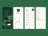 Daily UI #7 : Settings screen app design app ui app web design cinema4d cinema 3d profile green ui daily 100 challenge dailyuichallenge dailyui settings ui setting