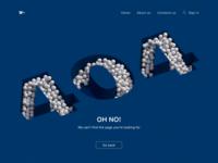 Daily UI #8 - 404 Page 404 error 404 page 404 ui daily 100 challenge dailyuichallenge dailyui 3d art web design cinema4d cinema 3d