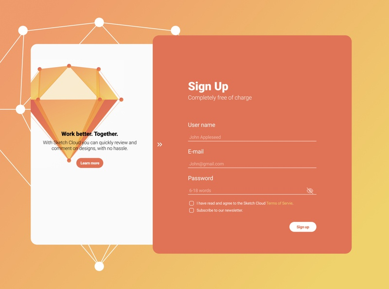 Challenge UI -01 Sign Up design illustration ux ui