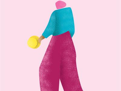 Women's Back grainy illustration women pink