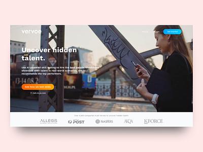 Vervoe's Homepage vervoe design landing page ui sketch