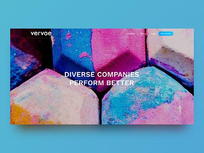 Vervoe's Diversity Page diversity webflow web design vervoe responsive landing page clean ux ui sketch