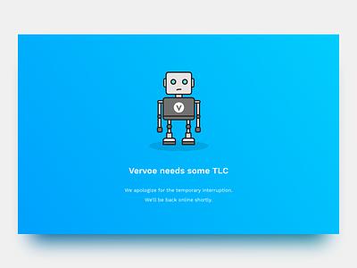 Vervoe's Maintenance Page tlc maintenance vervoe responsive clean ui sketch