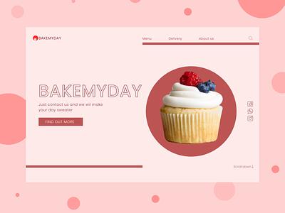 Bakery food cakes bakery web design